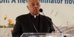 Archbishop Gregory speaks at solar panel blessing