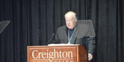 Bishop Robert McElroy of San Diego delivers keynote address
