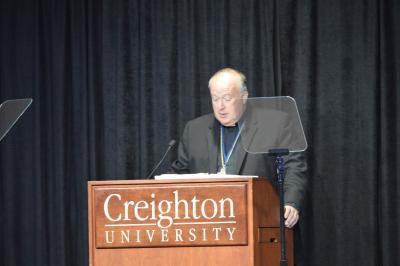 Bishop Robert McElroy of San Diego delivers keynote address