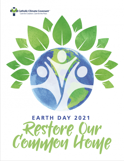 Restore Our Common Home - Earth Day 2021 logo.